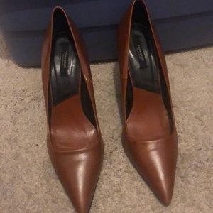 Shoes - ZARA BASIC COLLECTION Brown Pump
